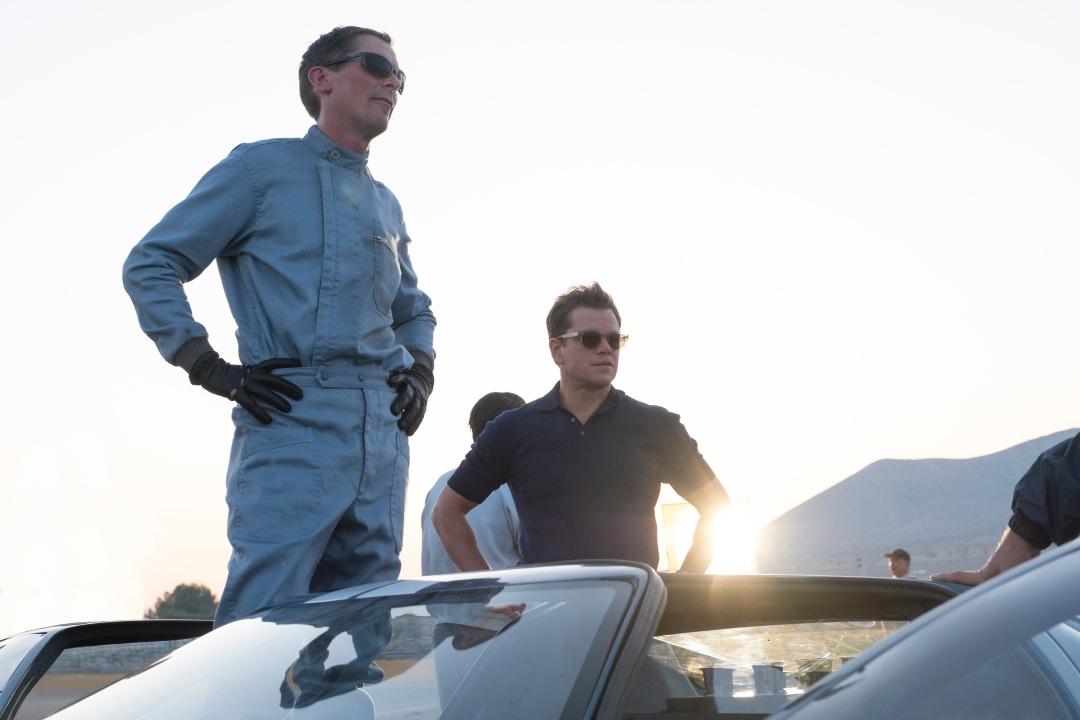 Christian Bale and Matt Damon in Twentieth Century FoxÕs FORD V. FERRARI.